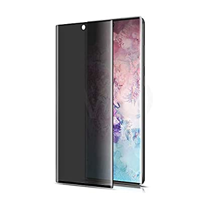 Galaxy Note 10 Privacy Screen Protector,GBBC Tempered Glass Anti Glare/Spy Anti-Scratch No Bubble 9H Hardness 3D Touch Compatible with Samsung Galaxy Note 10 (Black)
