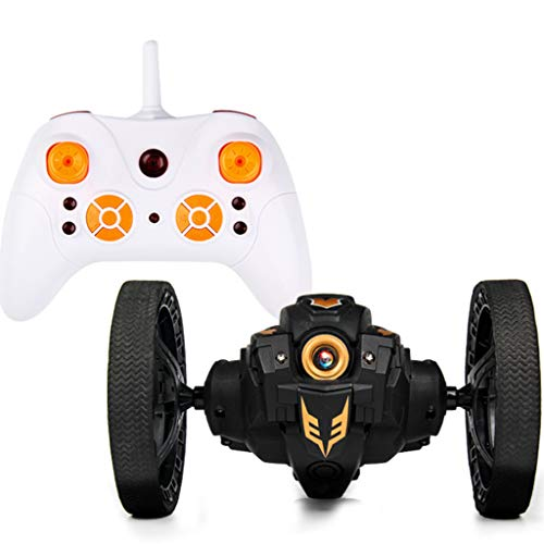 Insaneness Birthday Gift Xmas Toys 2.4GHz Wireless Remote Control Jumping RC Toy Bounce Cars Robot Toys (Black)