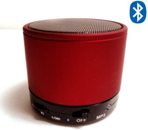 Mini-beats Bluetooth Wireless Mini Speaker for Iphone Ipad Ipod Mp3 Player Laptop – Built-in Microsd Card Slot – Amazing Sounds Red