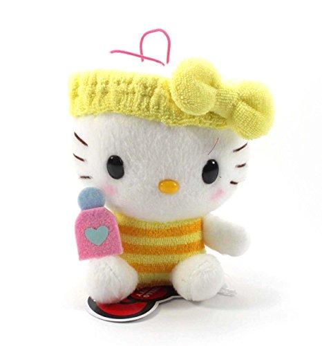 Eikoh Hello Kitty Fresh Bath Time Plush Strap - 5' Yellow Bottle