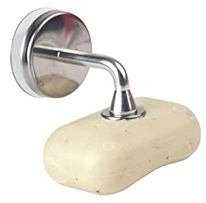 Kikkerland Magnetic Soap Holder with Suction Cup