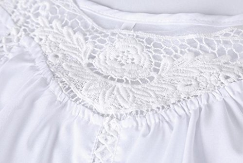 Dress Strap Loose Lace Summer Mini Domple Sexy White Splicing Sleeveless Women's qtx5z