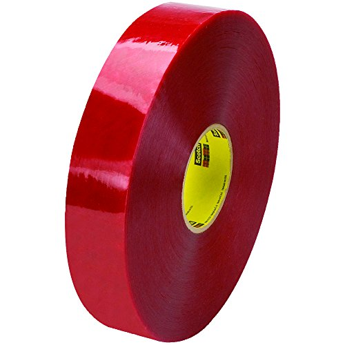 Ship Now Supply SNT9033779 3M 3779 Pre-Printed Carton Sealing Tape, 1.9 Mil, 2'' x 1000 yd., Clear/Red (Pack of 6) by Ship Now Supply
