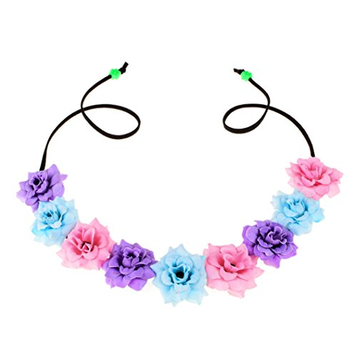 Floral Fall Festival Flower Crown Christmas headbands Wedding Headpieces F-58 (A-Pink Purple (Pink Purple Flower)