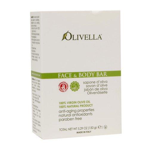 Bar Soap 100% Virgin Olive Oil Face & Body Olivella 5.29 oz Bar Soap