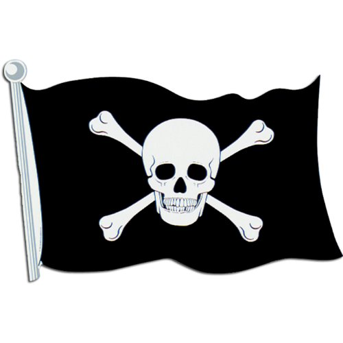 Pirate Flag Cutout Party Accessory (1 count) (Pirate Decoration)
