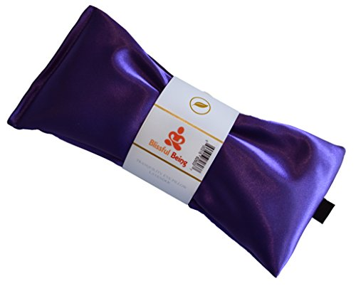blissful being silk flax seed lavender scented eye pillow amethyst