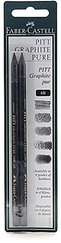 Faber - Castellピットモノクローム(グラファイト鉛筆6b ) 2個SKU # 1828748 MA B015TB5DHE