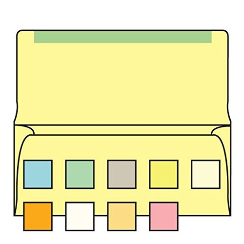 #6-3/4 Collection/Remittance Envelopes, 3-5/8'' x 6-1/2'' 24# Recycled Canary Pastel, Flaps Extended (Box of 500) by The Envelope Supplies Shop