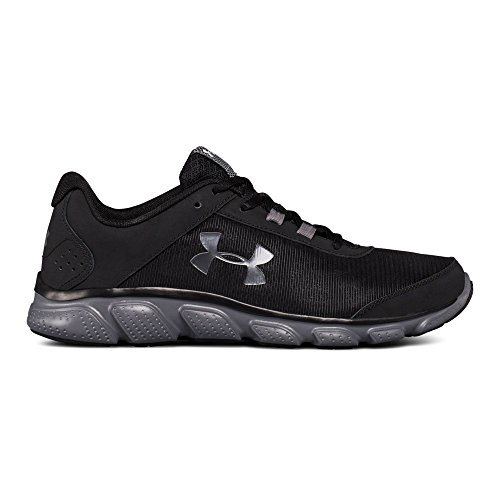 Under Armour Men's Micro G Assert 7 Running Shoe, Black (002)/Rhino Gray, 13