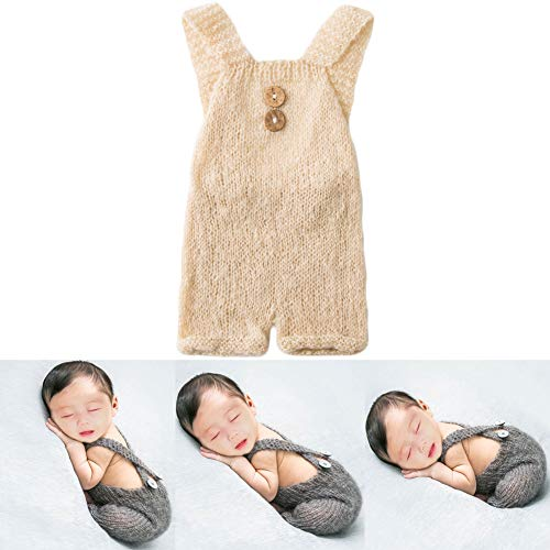 Baby Photography Props Boy Girl Photo Shoot Outfits Newborn Crochet Costume Infant Knitted Clothes Mohair Rompers ()