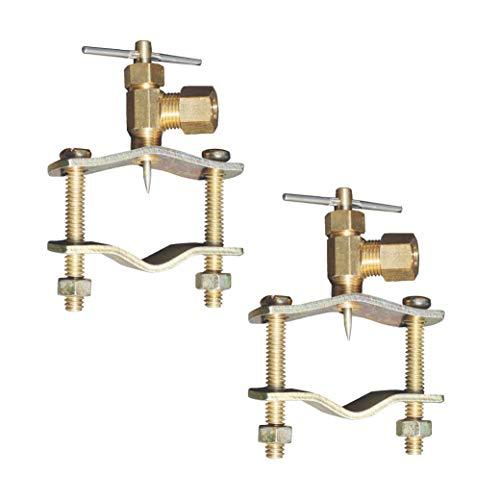 Raven Self Piercing 1/4-Inch Compression Outlet Brass Saddle Needle Valve (2 Pack)