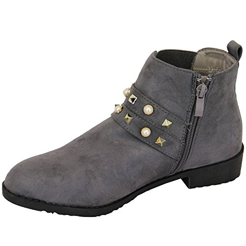 Générique Pomme Chaussures Femmes'élégant Bottes Gris - Le1853 QGCwpcS