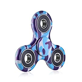 Fidget hand spinner toy Premium Bearing High Speed Perfect For ADD, ADHD, Anxiety, and Autism Adult Children (Blue and Purple)