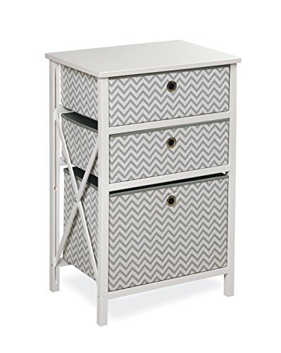 [Badger Basket September 3 Basket Wood Frame Storage, Gray/White] (Badger White Liner)