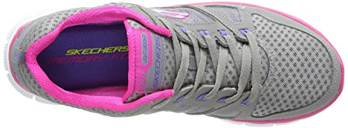 Skechers Flex Appeal Adaptable Damen Sneakers Gris (GYPK)