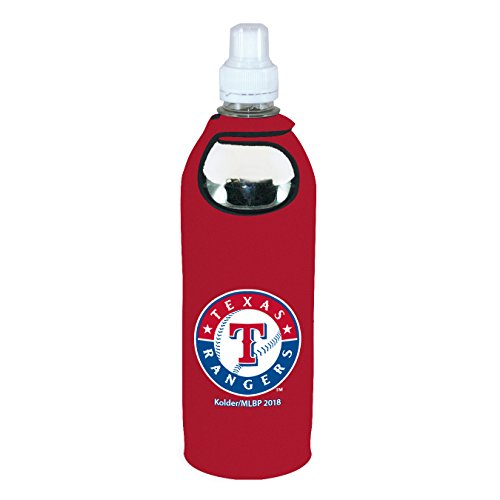 - Texas Rangers 1/2 Liter Water Soda Bottle Koozie Holder Cooler with Clip Baseball