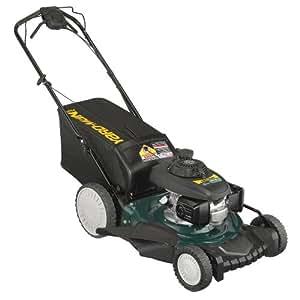 Yard-Man 12AVD39Q701 21-Inch 160cc Honda GCV Mulch/Side Discharge/Bagging Gas Powered Self Propelled Lawn Mower with High Rear Wheels