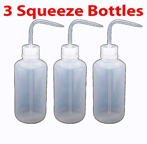 (3X Tattoo Squeeze Bottles Diffuser Wash Green Soap Non spray Clear 250mL 8oz NEW)