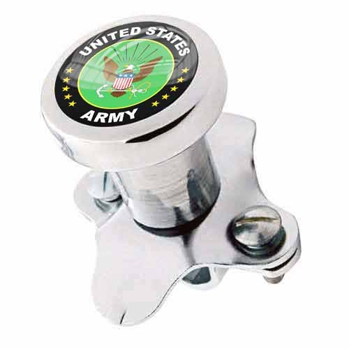 Tricktoppers Billet Aluminum Polished Steering Wheel Spinner Suicide Brody Knob For Hot Rod Customs Car Truck SUV Tractor Trailer Big Rig Boat And More - Veteran Military United States Army Eagle Logo