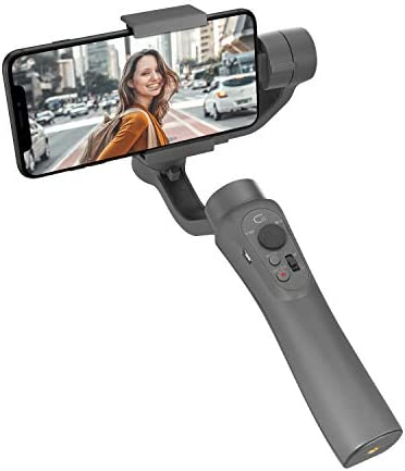Video Recording CINEPEER C11 3-Axis Smartphone Gimbal Stabilizer for Vlog Beginners Gray Portrait and Landscape Mode