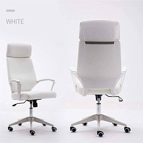 Ergonomisk kontor svängbar stol 62 cm hög rygg nylon ben dator skrivbord stol hem kontor studierum fåtölj