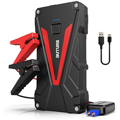 chollos oferta descuentos barato BuTure Arrancador de Coches 800A 12800mAh Arrancador de Baterias de Coche para 6 0L Gasolina o 5 0L Diesel