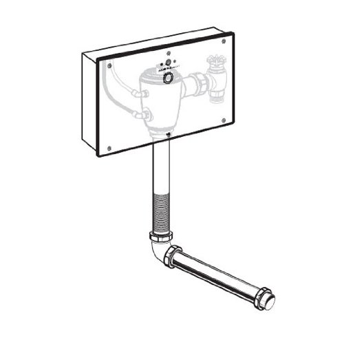 American Standard 6065.362.007 Concealed Selectronic 1-1/2-Inch Wall Mount Back Spud Toilet Flush Valve with Wall Box, DC Powered, 1.6 Gpf, Rough Brass