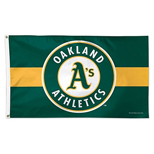Wincraft MLB Oakland A's 01784115 Deluxe Flag, 3' x 5'
