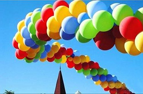 king's store,200 PCS of 12 inches 2.8 g heavy thickening, ten kinds of color rainbow balloon balloons