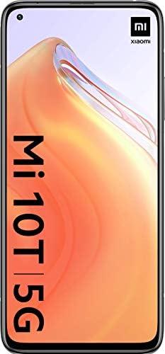 "Xiaomi Mi 10T 128GB, 6.67"" DotDisplay, 64MP Triple Rear Camera, 8K Video, 5000 mAh Battery LTE 5G Factory Unlocked Smartphone - International Version (Lunar Silver, 6GB RAM) WeeklyReviewer"