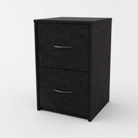 Ameriwood Home 2-Drawer Wood Laminated Particleboard File Cabinet in Black Oak Color by Ameriwood Home