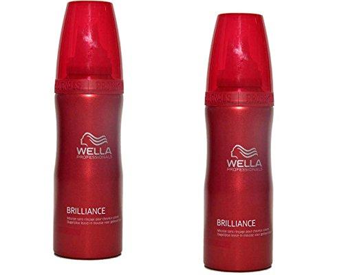 Wella Brilliance Leave-in Mousse 2 x 200 ml für coloriertes Haar Professionals Care