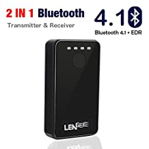 Bluetooth Transmitter & Receiver, Lidiwee LENGEE B8 Bluetooth 4.1 + EDR Audio Adapter 2-in-1 Music Bluetooth Adaptor, 3.5mm AUX Output, for Home/Car Stereo, Speaker, Headphone, TV, Tablet, MP3, MP4