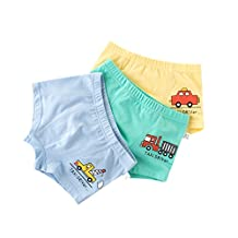 3Pcs/ Cartoon Cute Underwear Boys Soft Boxer Brief Kids Underpants