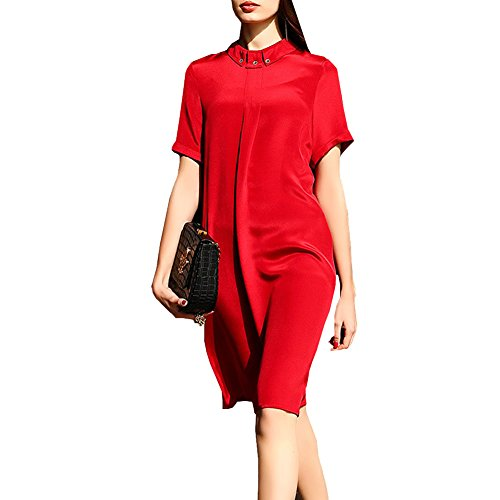 Mujer Vestido Sin Para Dissa Cóctel Rojo Mangas qfw6wFnX
