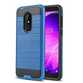 Phone Case for [TMOBILE REVVL 2 (5.5″)(2nd Generation)], [Protech Series][Blue] Shockproof Brushed Cover [Impact Resistant][Defender] for T-Mobile REVVL 2 (5.5 inch, 2nd Generation) (Blue)