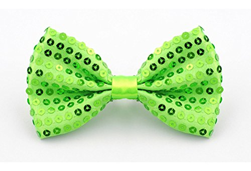 ORSKY Pre Tied Bowtie Men Gold Bow Ties with Sequins for Party Tuxedo Green (College Girl Halloween Pics)