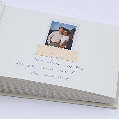 Wedding Photo Album Guest Book Ivory Garden Color