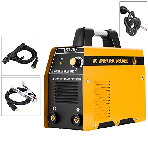 220V ARC Welding Machine, 200Amp Power, IGBT AC-DC Beginner Portable Welder (Without Plug)