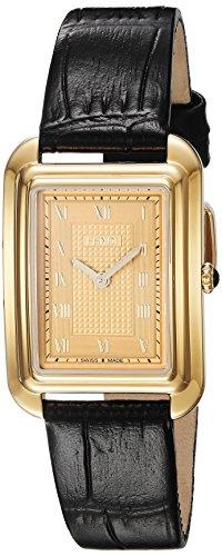 Fendi Women's 'Classico Rect' Swiss Quartz Gold-Tone and Leather Dress Watch, Color:Black (Model: F700435011) - 41Et6fwAKUL - Fendi Women's 'Classico Rect' Swiss Quartz Gold-Tone and Leather Dress Watch, Color:Black (Model: F700435011)