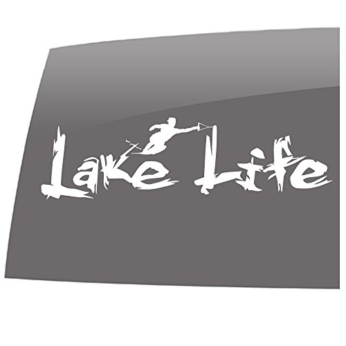 Lake Life - Water Ski - Outdoors - 5 Year - Outdoor Vinyl Sticker - Decal