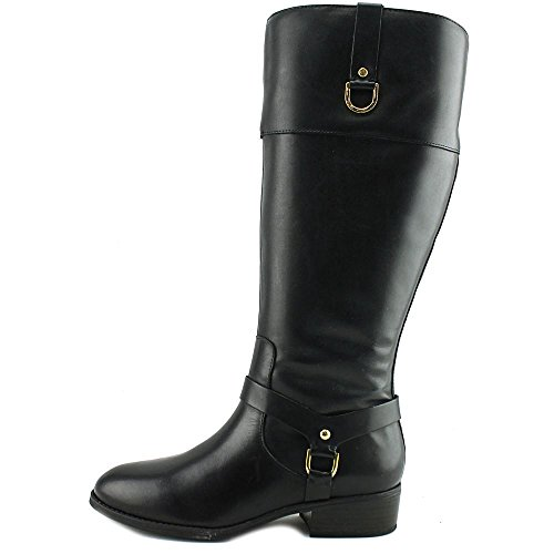 Calf by Lauren Knee Black Mesa Black Womens Fashion Burnished High Lauren Boots Closed Ralph Toe H6ndHq