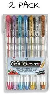 Yasutomo Gel Xtreme Metallic Pens (2 Packs of 7)