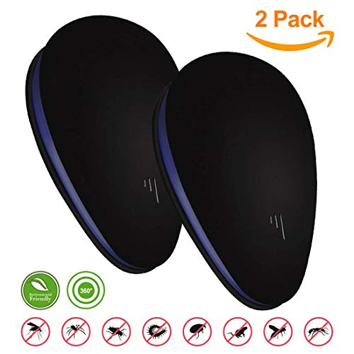 Pest repeller plug in - Ultrasonic pest repeller - Mouse & Rat Control - Indoor Electronic Fly Repellent Plug in Pest Control for Cockroaches Rats, Mice, discreet and noise free design (2 Pack)