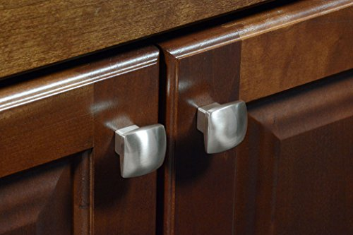 #2844 CKP Brand 1-3/16 in. (30mm) Rounded Square Knob, Brushed Nickel - 10 Pack by CKP (Image #3)