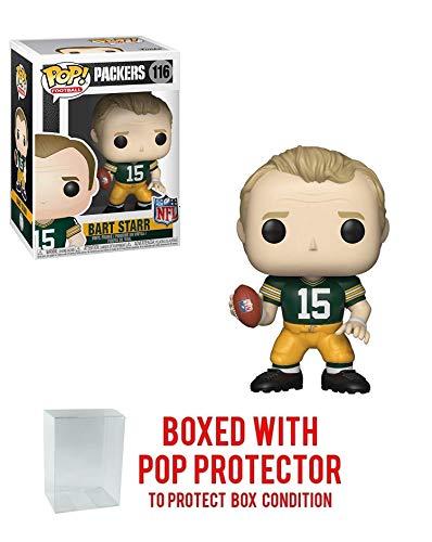 (Pop! NFL: Green Bay Packers Bart Starr NFL Legends #116 Vinyl Figure (Bundled with Pop Protector))