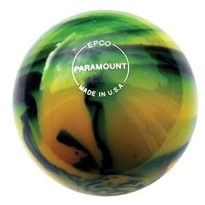 Paramount Glow Candlepin Bowling Ball- Yellow/Black (1 Ball at 4 1/2 inch- 2lbs. 6 oz.)
