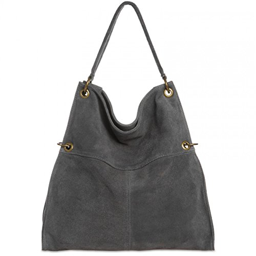 CASPAR Fashion - Bolso al hombro para mujer talla única gris