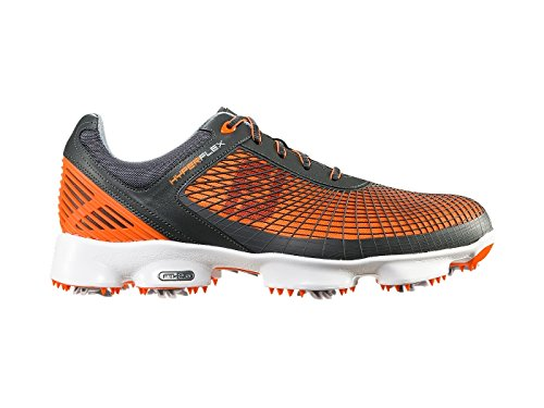 FootJoy Closeout Hyperflex Golf Shoes - Grey/Orange (9.5 D(M) US)